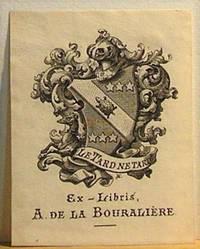 image of Ex-libris France. A. De La Bouralière
