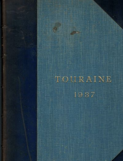Tours: Maison Alfred Mame, 1937. First edition. Hardcover. Three quarter navy morocco and blue cloth...