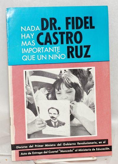 Republica de Cuba: Depertamento de Relaciones Publicas / Ministerio de Relaciones Exteriores, 1960. ...
