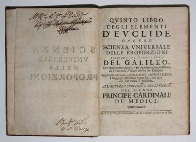 Florence: alla Condotta, 1674. Hardcover. Very Good. 4to - over 9¾ - 12
