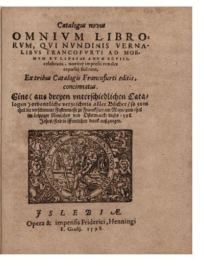 Catalogus novus Omnium Librorum, qui...