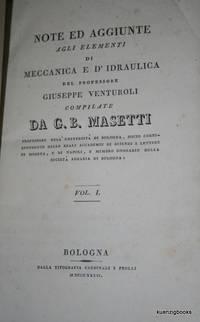 Note ed aggiunte agli elementi di meccanica e d'idraulica del professore Giuseppe Venturoli
