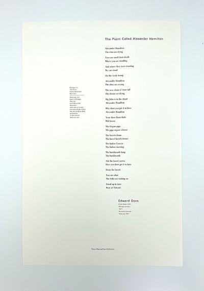 Lawrence, KS: Tanny/Peg Leg Press, 1971. Fine. 17 x 11 inches. On wove paper.