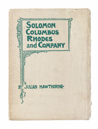 S. l.: By the author, 1909. Softcover. First edition presumed; 7 x 5; pp. ; stapled beige wraps, rul...