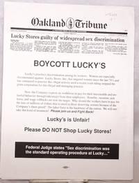 Boycott Lucky's.  Lucky's is Unfair! Please DO NOT Shop Lucky Stores