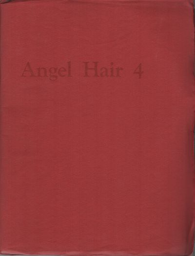 New York: Angel Hair, 1967. First Edition. Wraps. Very good. 4to. Publisher's red wraps. Very good. ...