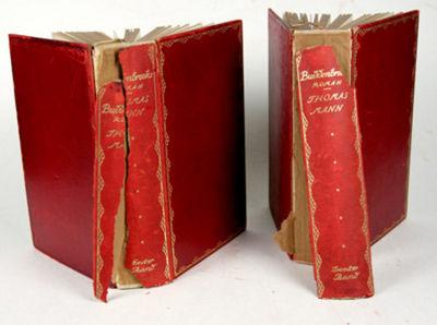Berlin: Fischer, 1910. Jubilaumsausgabe. Hardcover. fair. 2 volumes. Small 8vo. 499pp. 477pp. Gilt d...