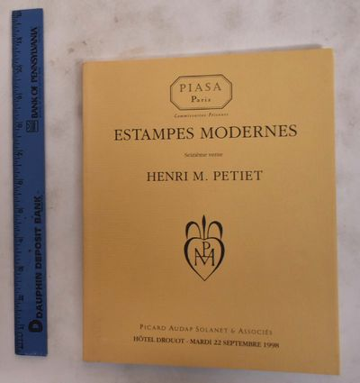 Paris, France: Piasa / Picard Audap Solanet & Associes, 1998. Softcover. VG. creasing to spine edge;...