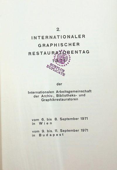 Wien: Heeresgeschichtl. Museum, 1972. Wraps. Very Good. 7 leaves printed recto only + half title