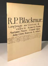 On R. P. Blackmur / Language as Gesture & Essays by Kenneth Burke Marianne Moore Conrad Aiken John Crowe Ransome & Others / Mirage