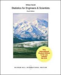 image of Statistics for Engineers and Scientists