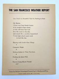 image of The San Francisco Weather Report [Broadside]