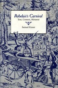 Rabelais's Carnival: Text, Context, Metatext