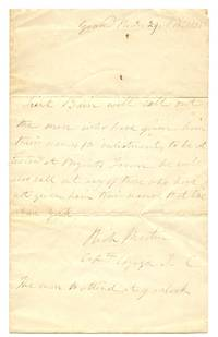 image of Letter from Capt. Richard Martin, Grand River, Upper Canada, Nov. 29, 1838