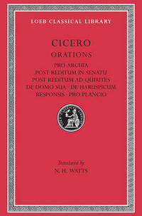Pro Archia by Marcus Tullius Cicero - Paperback - from The Saint Bookstore (SKU: A9780674991743)