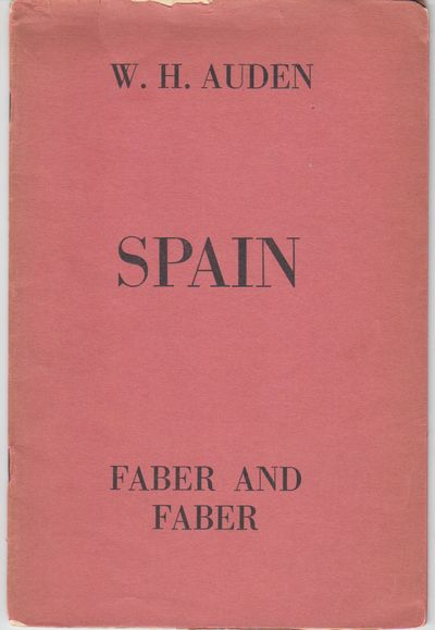 London: Faber & Faber. 1937. First Edition; First Printing. Softcover. Wraps with French folds, very...