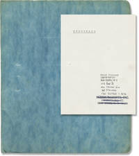 Underwater (Original screenplay for an unproduced film)