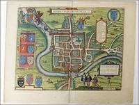 Cestria vulgo Chester, Angliae Civitas. Braun and Hogenberg, 1581