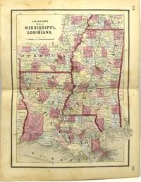 MAP OF MISSISSIPPI AND LOUISIANA