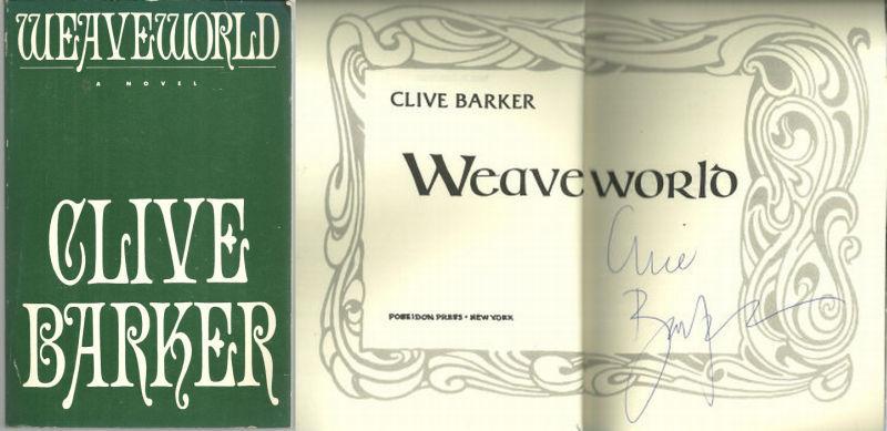 WEAVEWORLD, Barker, Clive