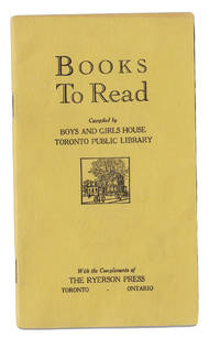 Books to read, compiled by Boys and Girls House, Toronto Public Library