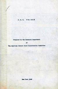 J.D.C. PRIMER by American Jewish Joint Distribution Committee. Research Department - First Edition - 1945 - from Dan Wyman Books (SKU: 35465)