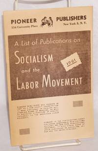 A list of publications on socialism and the labor movement, 1961