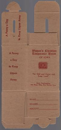 Cardboard Collection Box for Woman's Christian Temperance Union of Iowa