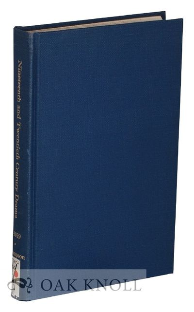 Boston, MA: G.K. Hall & Co, 1975. cloth. 8vo. cloth. viii, 456 pages. Table of contents, introductio...