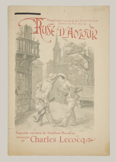 Paris: L'Illustration, 1897. Small folio. Original publisher's dark ivory wrappers illustrated by L�...