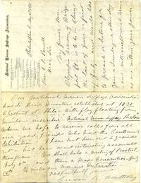 Letter handwritten and signed by Susan B. Anthony.