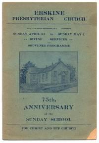 Erskine Presbyterian Church Souvenir Programme: 75th Anniversary of the Sunday School