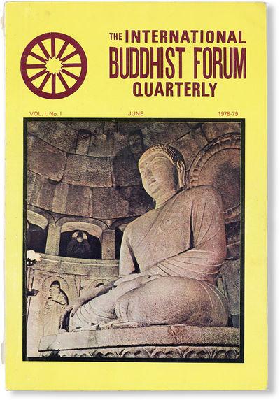 : International Buddhist Forum, 1978. First Edition. Octavo (23cm.); publisher's yellow photo-illust...