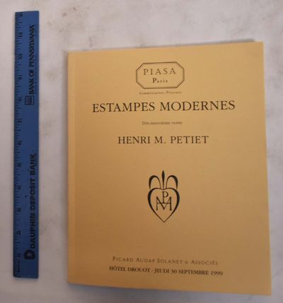 Paris, France: Piasa / Picard Audap Solanet & Associes, 1999. Softcover. VG. crease to bk cover corn...