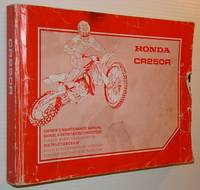 Honda CR250R Owner's Maintenance Manual - Text in English, French, German, Dutch, Spanish and Italian