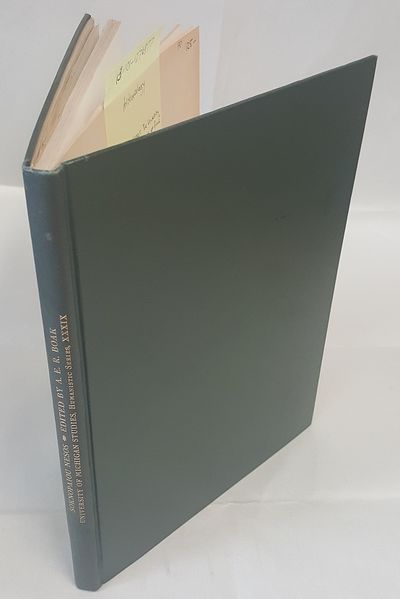 Ann Arbor: University of Michigan Press, 1935. Large, thin octavo; VG-/no-DJ; Green spine with gilde...