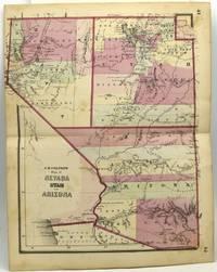 MAP OF NEVADA, UTAH AND ARIZONA