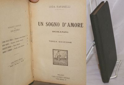 Milano: Casa Editrice Sociale, 1921. Hardcover. 180, p., plain pebbled cloth binding corners bumped,...