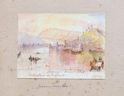 Original album containing watercolour...
