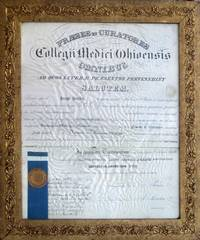 MEDICAL DIPLOMA] Ohio College of Medicine for Joseph Bowlby, March 8, 1883