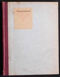 Little Journeys to the Homes of Great Philosophers: Schopenhauer; written by Elbert Hubbard