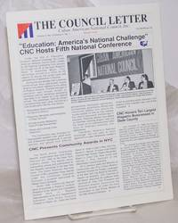 image of The Council Letter: Cuban American National Council, Inc.; vol. 4, #4/vol. 5, #1, Fall 89/Winter 90: Special double issue: Education: America's National Challenge