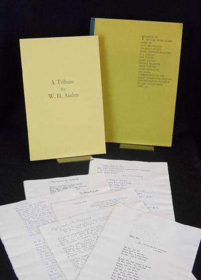 Menston, Yorkshire, England: Ilkey Literature Festival , 1973. Folio in a case. Near fine. Folio siz...
