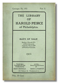 PRIVATE LIBRARY OF HAROLD PEIRCE OF PHILADELPHIA ...