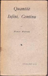 Quantité, Infini, Continu.