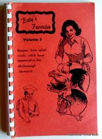 Betty's Favorites Volume 3 Cookbook