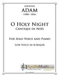 O Holy Night / Cantique de Noel for Low Voice in Ab Major