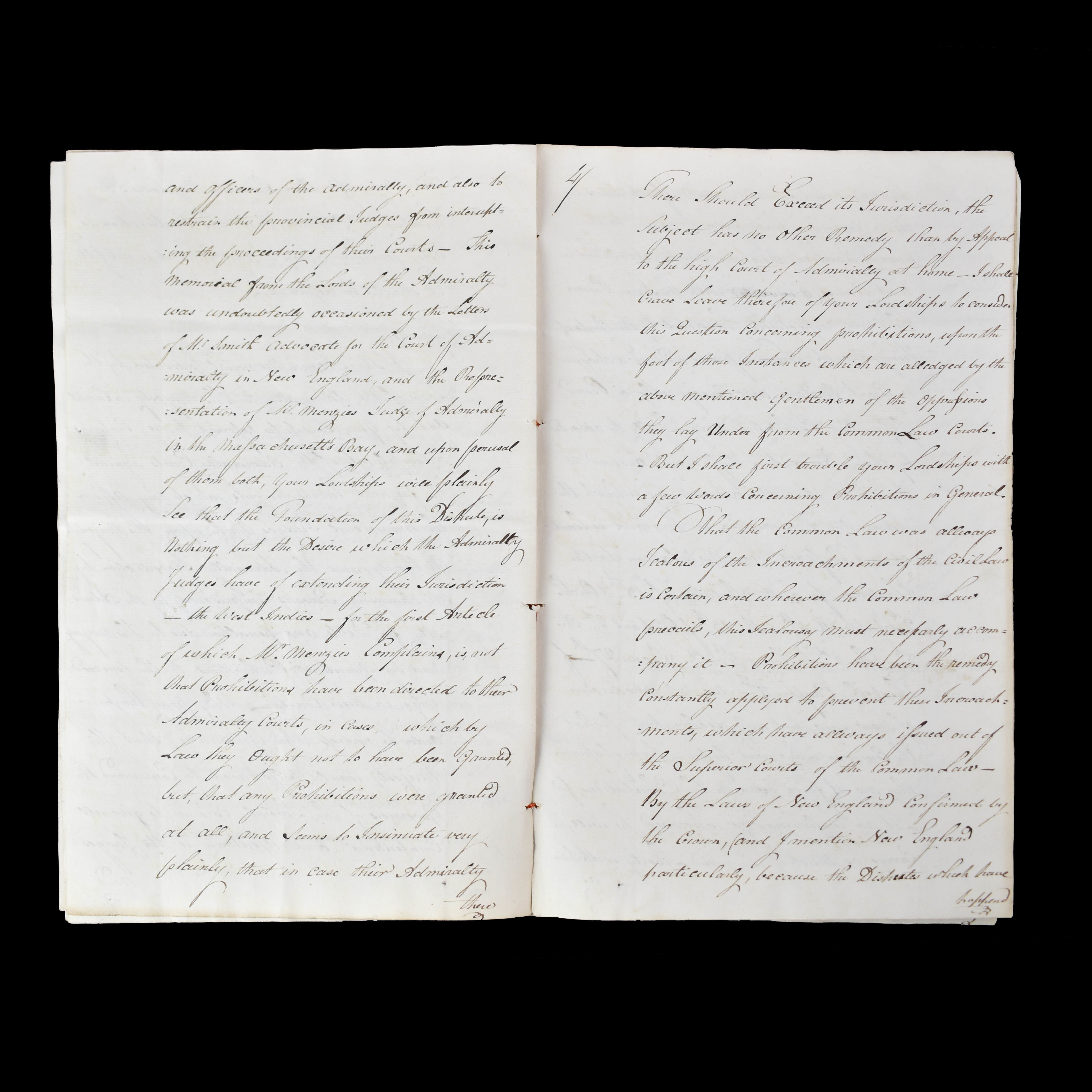 An Important Document Addressed To Lords of the Admiralty and Governors of the American Plantations  Concerning The Confiscation of Pirate Goods and Establishing an Act that will allow Pirates to be Tried and Punished by Courts in the Colonies and Provinces. (photo 2)
