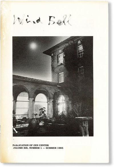 : Zen Center, 1985. First Edition. Octavo (23cm.); pictorial staplebound self-wrappers; 51pp.; photo...