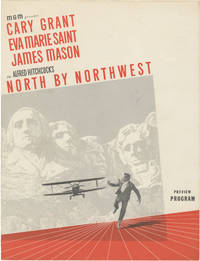 North by Northwest (Original film program for the 1959 film) by Hitchcock, Alfred (director); Ernest Lehman (screenwriter); Cary Grant, Eva Marie Saint, James Mason (starring) - 1959